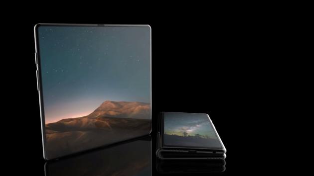Le smartphone pliable de Samsung en mode tablette et smartphone